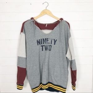 Free People Naomi Ninety-Two Hoodie Sweatshirt